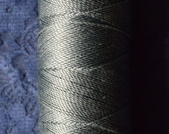 Charcoal grey. Waxed polyester thread spool. Linhasita. Art supply. 172 m / 188 yds, 1 mm thick (209-202)