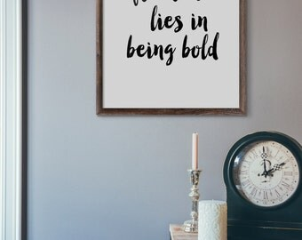 Freedom Lies In Being Bold, Typography Poster, Instant Download, Printable Wall Art, Minimal Wall Art, Digital Download