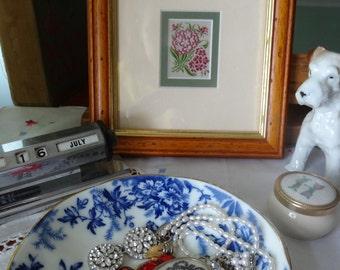 Vintage Ephemera Kensitas 1930s Silk Flower Cigarette Cards, choice of Montbretia,Phlox or Sweet William
