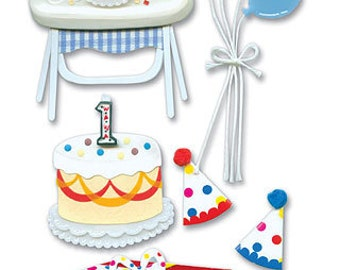 Jolee's Boutique Dimensional Stickers Birthday, 1st Birthday Stickers, First Birthday Stickers