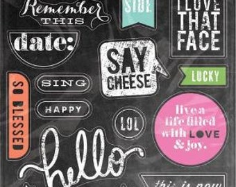 Me & My Big Ideas Chalkboard Stickers Value Pack Today