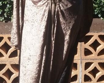Winterfell Antique Gold Panne Velvet, #WIN0016