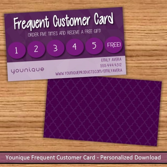 younique frequent customer loyalty card by nextlevelsolutions. Black Bedroom Furniture Sets. Home Design Ideas