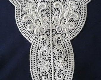 Vintage Embroidered Lace Applique