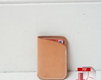 Leather Slim Card Wallet Digital Template (8.5 x 11) - Build Along Tutorial