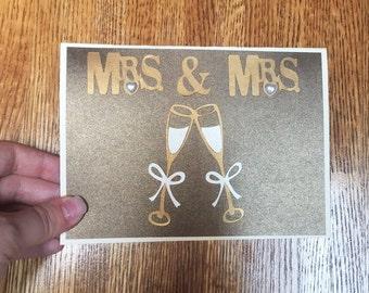 Mrs. & Mrs. Wedding Card