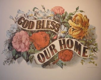 Print - God Bless Our Home - Perfect for your home - housewarming gift