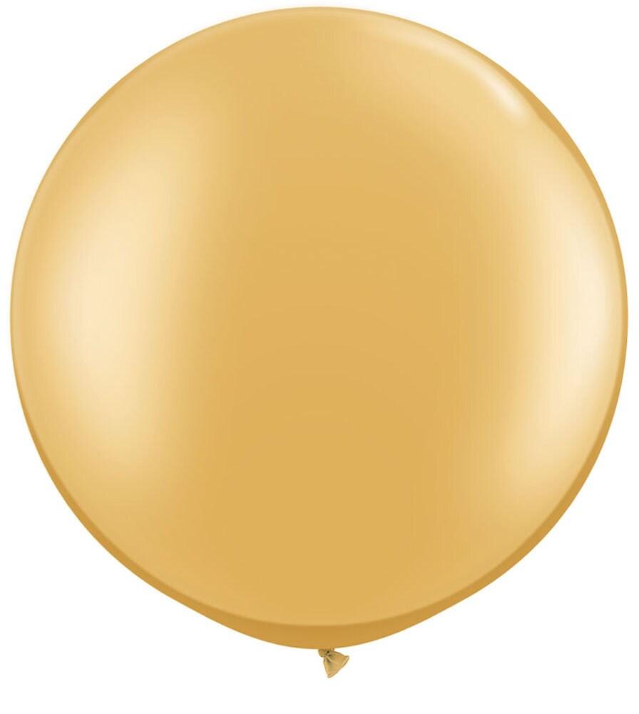 30 jumbo latex balloon in gold large gold balloon. Black Bedroom Furniture Sets. Home Design Ideas