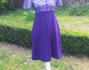 Sweet 60s Mod Dress. Flower Power! Purple Haze!