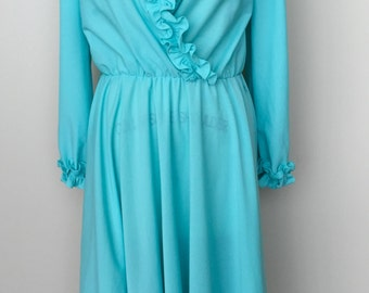 1980's VINTAGE Anthony Richards DRESS-Whipped Blueberry Dress
