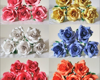 Paper Roses /  Wedding Decorations / Home Decorations / Decorations / Handmade / Roses / Bouquest / Wedding Bouquet