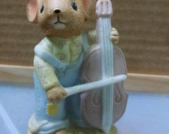 Vintage Enesco Figure Mouse Musician