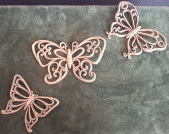 Syroco Butterflies - Wall Hangings - Vintage 1978 - Home Decor - Homco