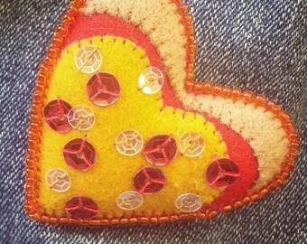 Pizza My Heart Brooch