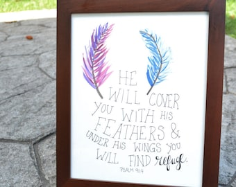 Feathers- Psalm 91:4