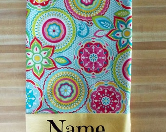 Snazzy Kaleidoscope Inspired Pillowcase, Perfect for the Older Child or Teen or for any Age, Embroidered, Personalized, Monogrammed