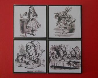 Alice In Wonderland Coaster Set
