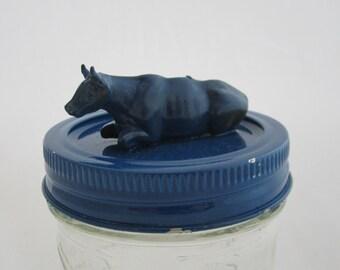 Blue Cow Jar