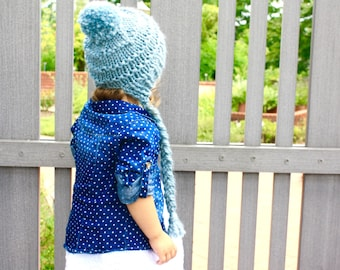 Chunky Knit Toddler Earflap Hat