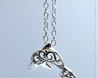 Sterling Silver celtic dolphin