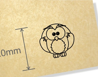 Clear Acrylic Stamp.Owl stamp