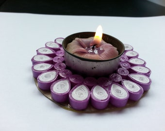 Paper Quilled Candle Holder