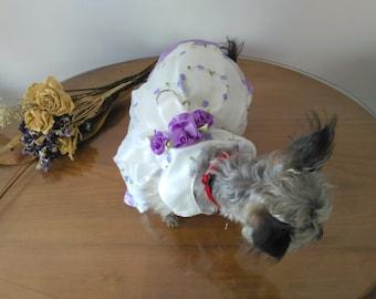 Lavander Special Occasion Harness Dog Dress