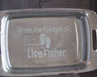 Personalized Baking Dish