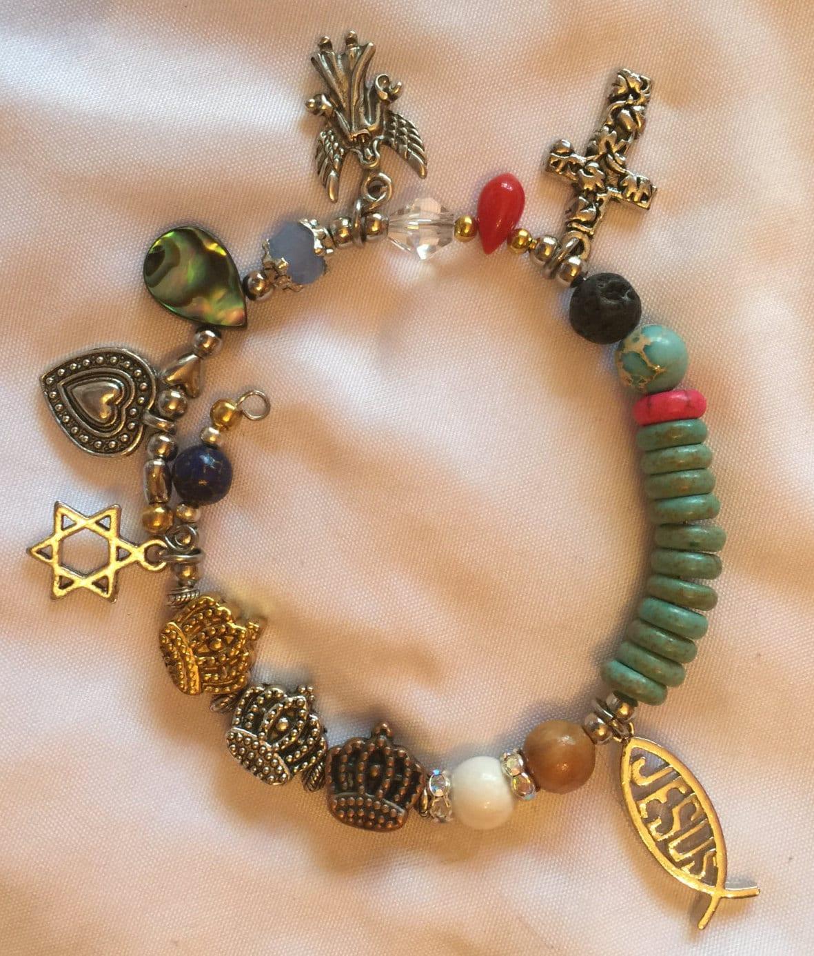 Religious Charm Bracelets: Christian Jewelry Christian Bracelet Story Of Jesus