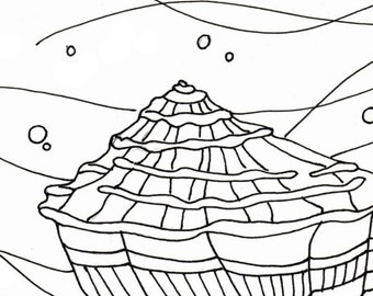 sea shell coloring page embroidery pattern seashell art pdf download adult coloring