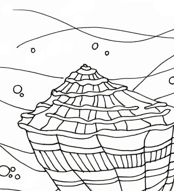 It is a graphic of Magic Seashells Coloring Pages