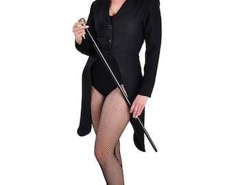 Ladies Black Tailcoat Jacket