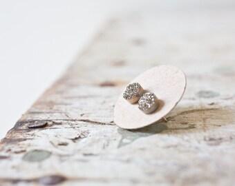 Silver Gold Drusy Earrings Druzy Sterling Silver Studs, Tiny Druzy Earrings, Drusy Studs Gold Set, Druzy Silver Earrings, Drusy Earring