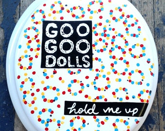 GOO GOO DOLLS Hold Me Up Toilet Seat by Witch Way Designs Rock Bathroom