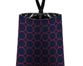 Car Trash Bag // Auto Trash Bag // Car Accessories // Car Litter Bag // Car Garbage Bag - Rings (navy blue and red) // Car Organizer