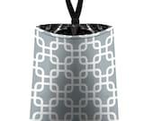 Car Trash Bag // Auto Trash Bag // Car Accessories // Car Litter Bag // Car Garbage Bag - Chain Link - Grey