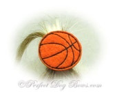 Basketball Dog Bow, Team Spirit Dog Bow, Hoops Dog Bow, Sports Dog Bow, Boy Dog Bow