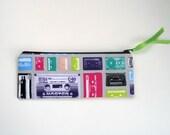 Cassette Tape Pencil Pouch, Retro Pencil Case, Zipper Pouch