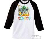 Circus Shirt Women - Baseball Shirt Circus Elephant - Custom Adult Unisex - Circus Party Shirt - Big Top Party Shirt - Size S M L Xl 2Xl 3xl