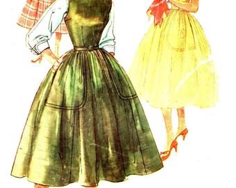 Simplicity 1046 Mother & Daughter Fashion Dress, Jumper, Blouse VINTAGE ©1955