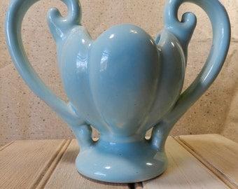 Aqua vase with handles