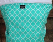 Super Lightweight ORGANIC BAMBOO Baby Wrap-Turquoise Medallions -DvD Included-One Size Fits All-Newborn-Toddler