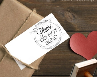 JLMould Small Business Custom Rubber Stamp Do Not Bend donotbend Custom with your company name and website address