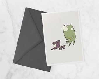 Le chien monstre, Note card