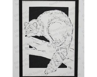Raccoon Papercutting- Handcut Original