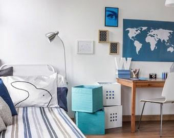 Bunny Rabbit Pillow Cases, single pillowcase : dorm decor girl gift for college kids, standard white animal pillow, for teen, home decor