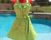 Tinkerbell inspired Apron, Tinkerbell Fairy, Peter Pan, Sassy Womens Aprons, Plus Sizes, Tinkerbell Fairy Costume, Cosplay, Girls Aprons
