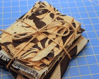 Printed Burlap Fabric Destash