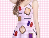 Peanut Butter and Jelly Sandwiches Twirly Dress