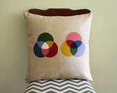 Science Diagram Pillow - Light Theory // CMYK // Color // Spectrum // Rainbow // RGB // Graphic Designer // Artist // Prism